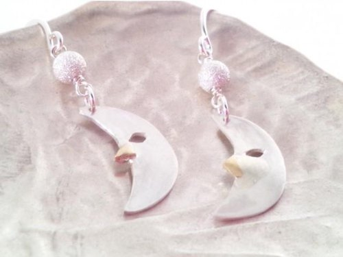 Crescent Moon silver earrings
