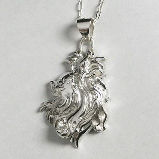 Chihuahua Portrait Pendant 【Free Shipping】 Dog Wow Silver Silver