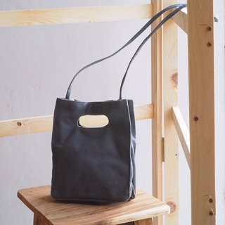 SMOKE GRAY BOX BAG