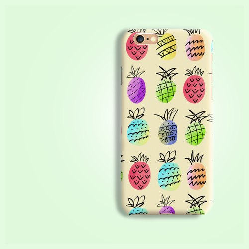 彩色 缤纷 凤梨 水果 菠萝 图案 磨砂  手机壳  硬壳 保护壳 保护套 for  iphone X 6 6S 7+ 8 8+ Plus Samsung Galaxy S6 S7 edge S8 S8+ Note 5 8 J7 HTC LG G6 V10 V20 Z5  Xperia X XZ XA Ultra Oppo F1s Zenfone HTGNP98
