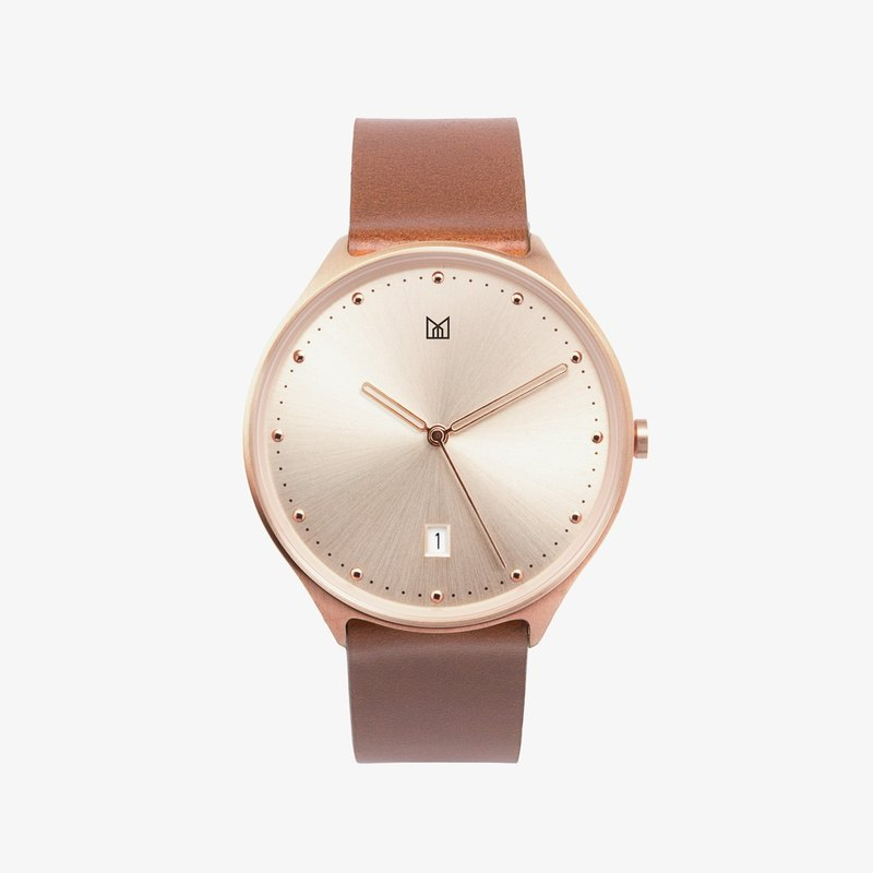 NEUT watch | Sunrise Rose Gold / Brown