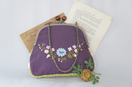 Embroidery & knitting mouthpiece Bag (purple)