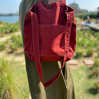 New Orange Little Canvas Tote / Weekend bag / Shopping bag