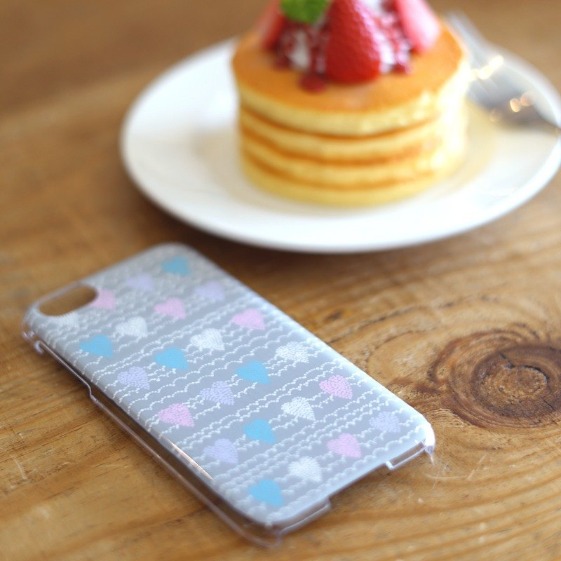 Hand paint iPhone case.Soft heart