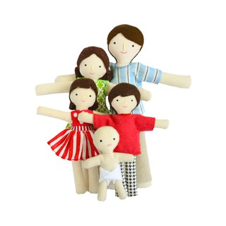 Family of Dolls - Fabric doll - Cotton toy - Therapy doll