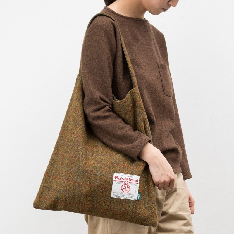 NTMY.Harris Tweed Tote 哈里斯粗花呢单肩手拎包