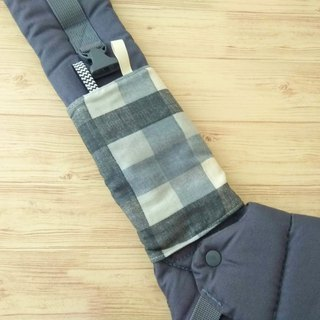 DROOL PADS, 口巾布, Ergo, Baby Carrier, Gray Plaids, Japanese Cotton