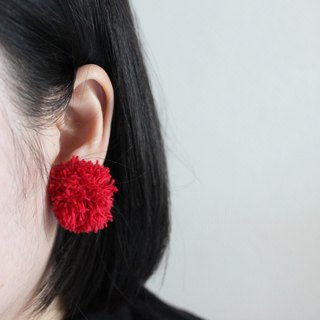 Fluffy Stud Round Earrings · Earrings