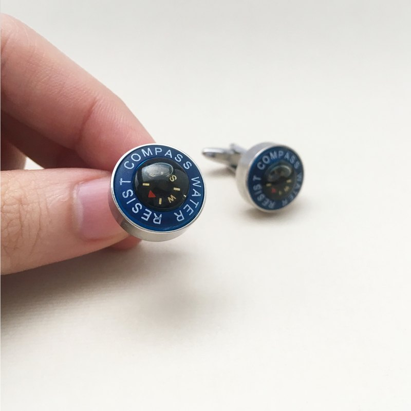 防水指南针袖扣 Water Resist Compass Cufflink