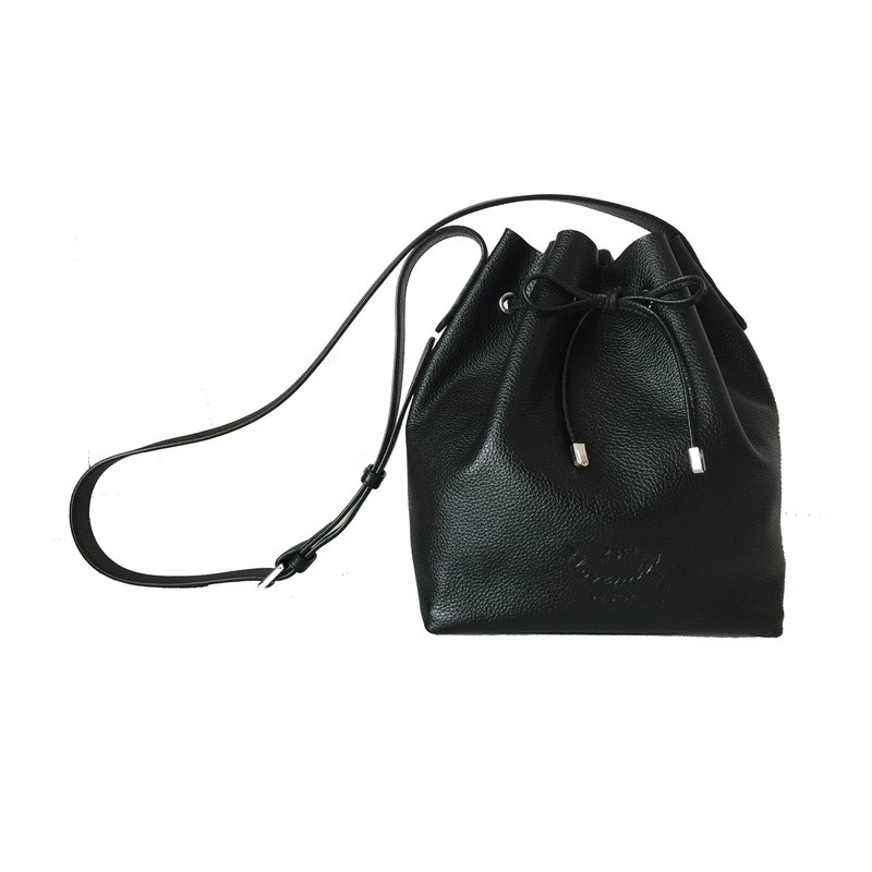 Classic Bucket 'S' Black Women Shoulder Leather Bag And Cross Body Bag