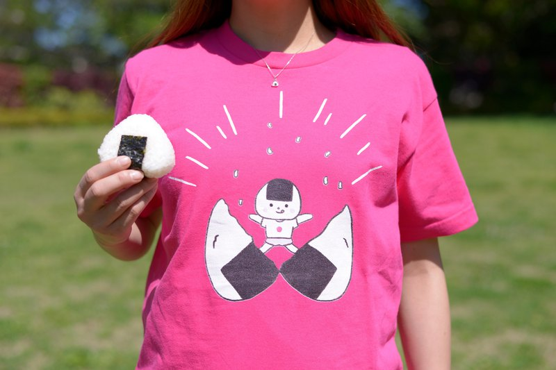 [There is also a kids size] Onigiri T-shirt Tobi Out rice balls ver.