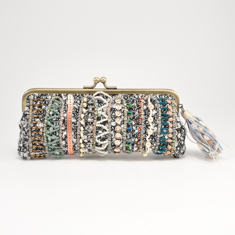 Sparkle and statement glasses and pen case, white purse, one of a kind,  No,2