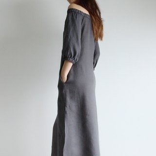 Made to order linen dress / linen clothing / long dress / casual dress E13D