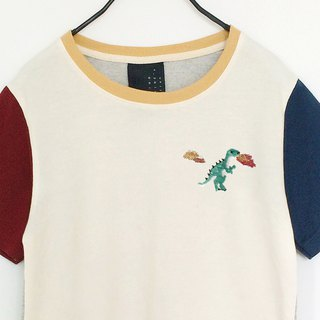 dinosaur embroidery crop top
