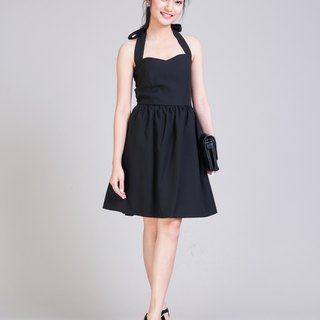 Halter Dress Black Dress Black Party Dress Swing Dance Dress Cocktail dress