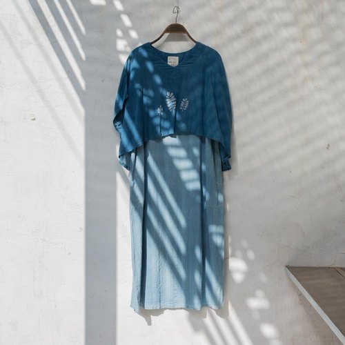 Double Blue dress | Indigo Natural Dyed