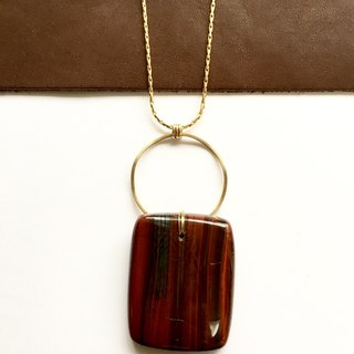 Red Banded Jasper Long Necklace