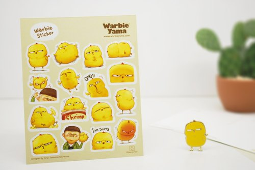 Warbie Mini Sticker set 001