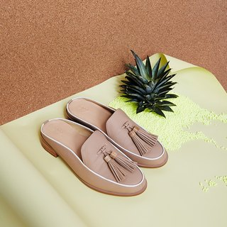 Natural Beige-Willow - Mule Loafers