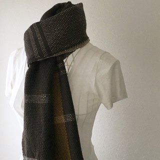 "[Wool: Fall-Winter] unisex: hand-woven scarf ""Deep Grown Mix"""