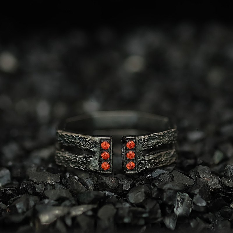 Fire Element stone ring