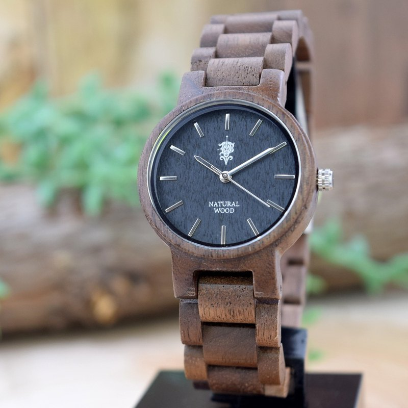EINBAND Dank Walnut 32mm Wooden Watch