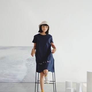 Venus Dress :  Seagull (Navy)