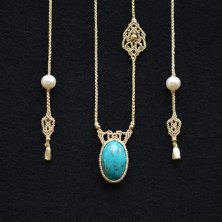 Persian Turquoise / Silk Necklace