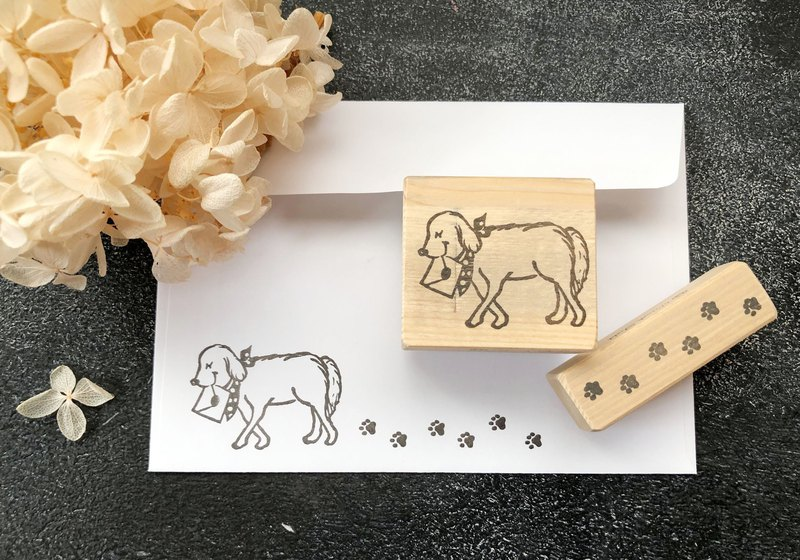 A set of 2 stamps set for dogs