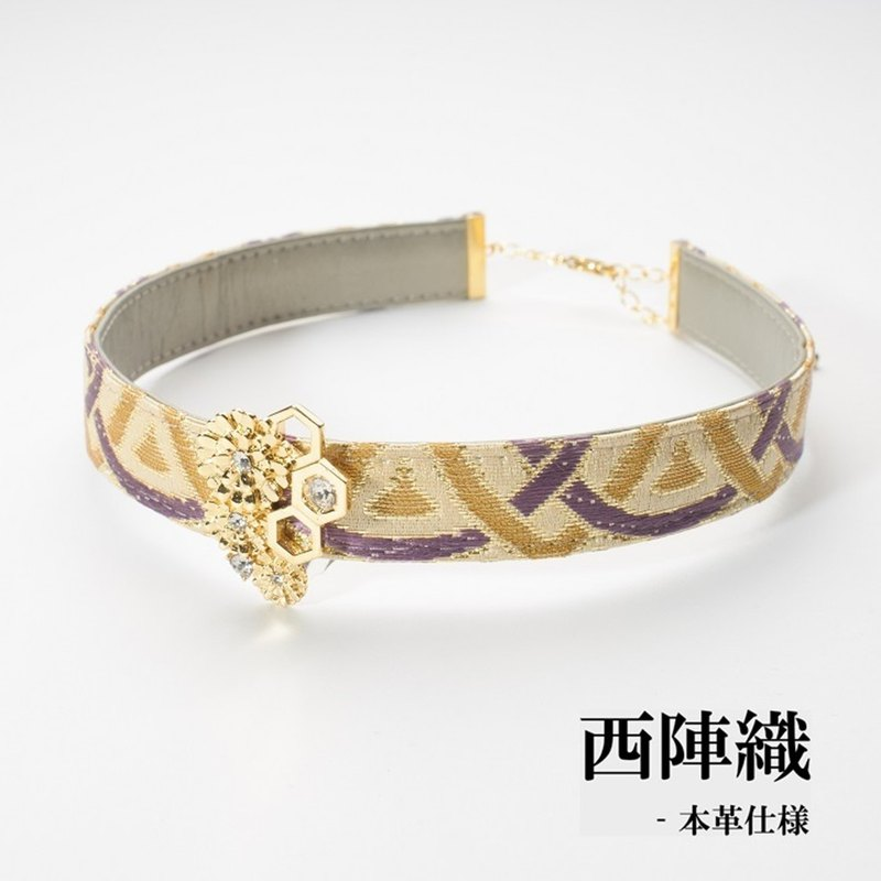 Leather choker Ladies Nishijin Japanese-style design accessories hydrate choker
