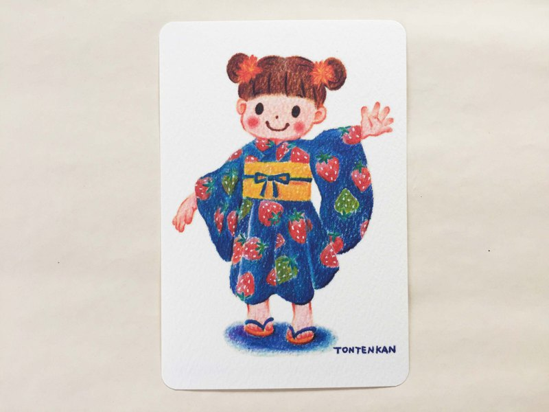 Strawberry Yukata postcard no.155