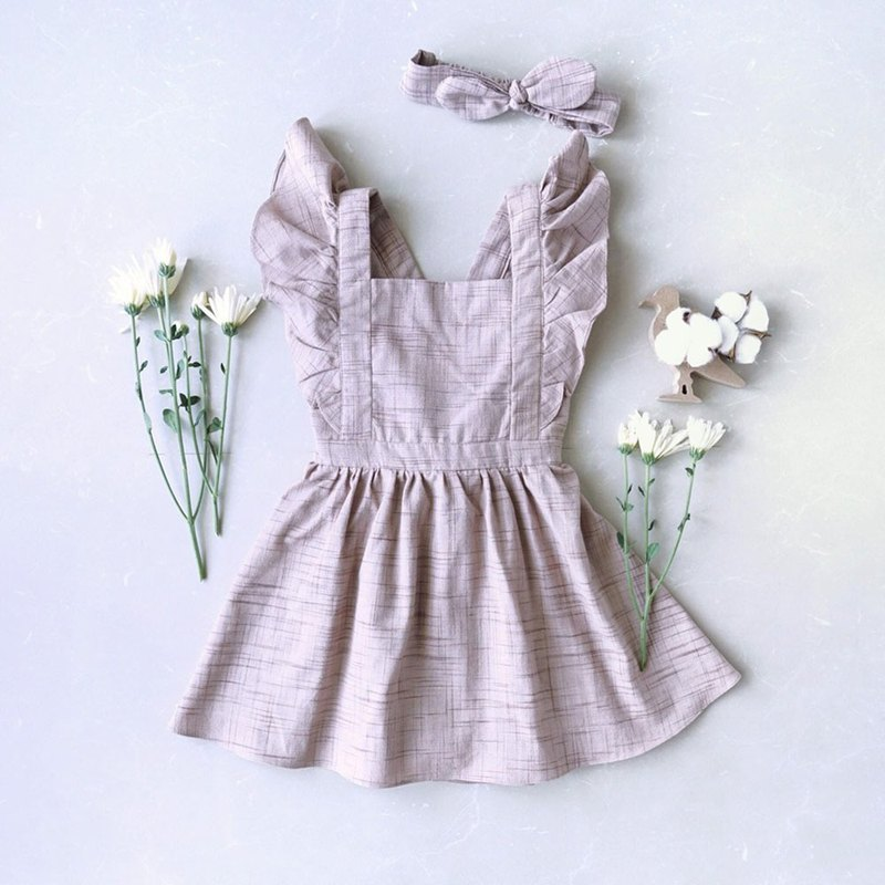 Be Butterfly Dress Hand Woven Cotton 100%, Natural Dyed