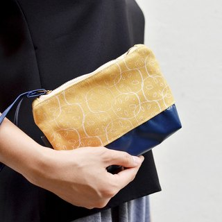 Lotus Root Canvas Clutch