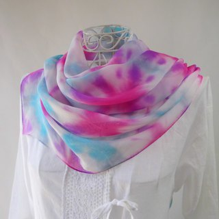 Tie-dyed · silk chiffon · festival musicians _ 1 · stole