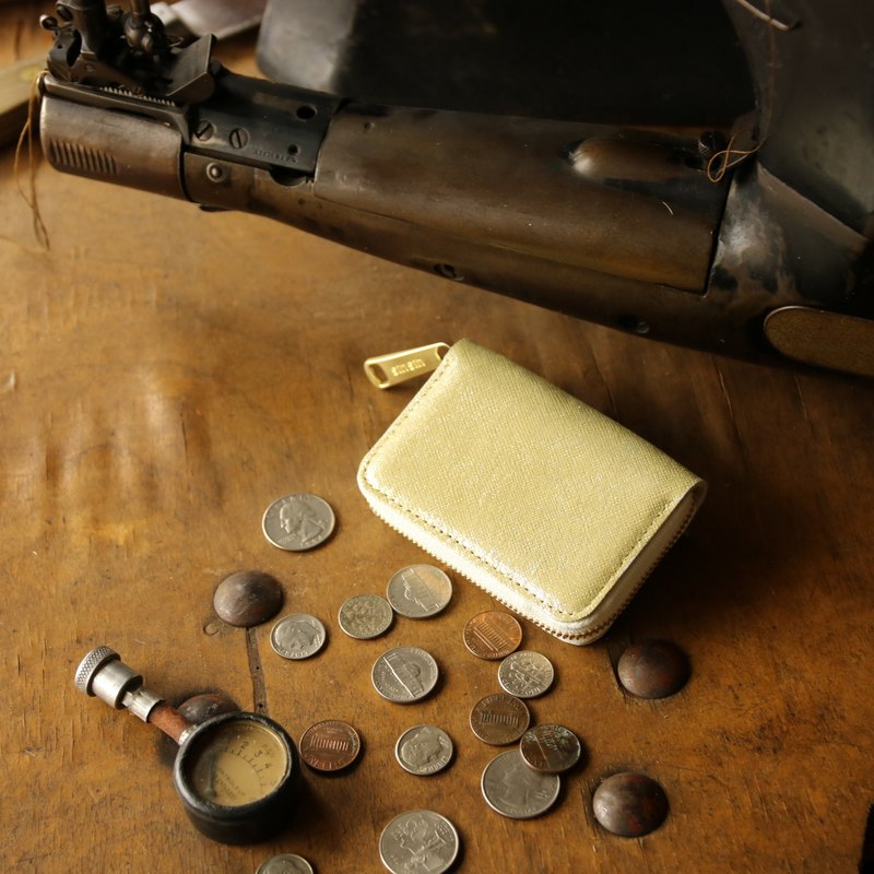 Japan Manufacturing currency cash on delivery cowhide color Mr. Kim Ru made in JAPAN handmade leather wallet coincase