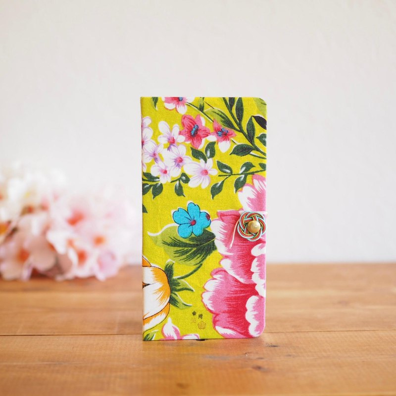 Taiwan flower cloth notebook type smart case (for all models) 1 [Order production]