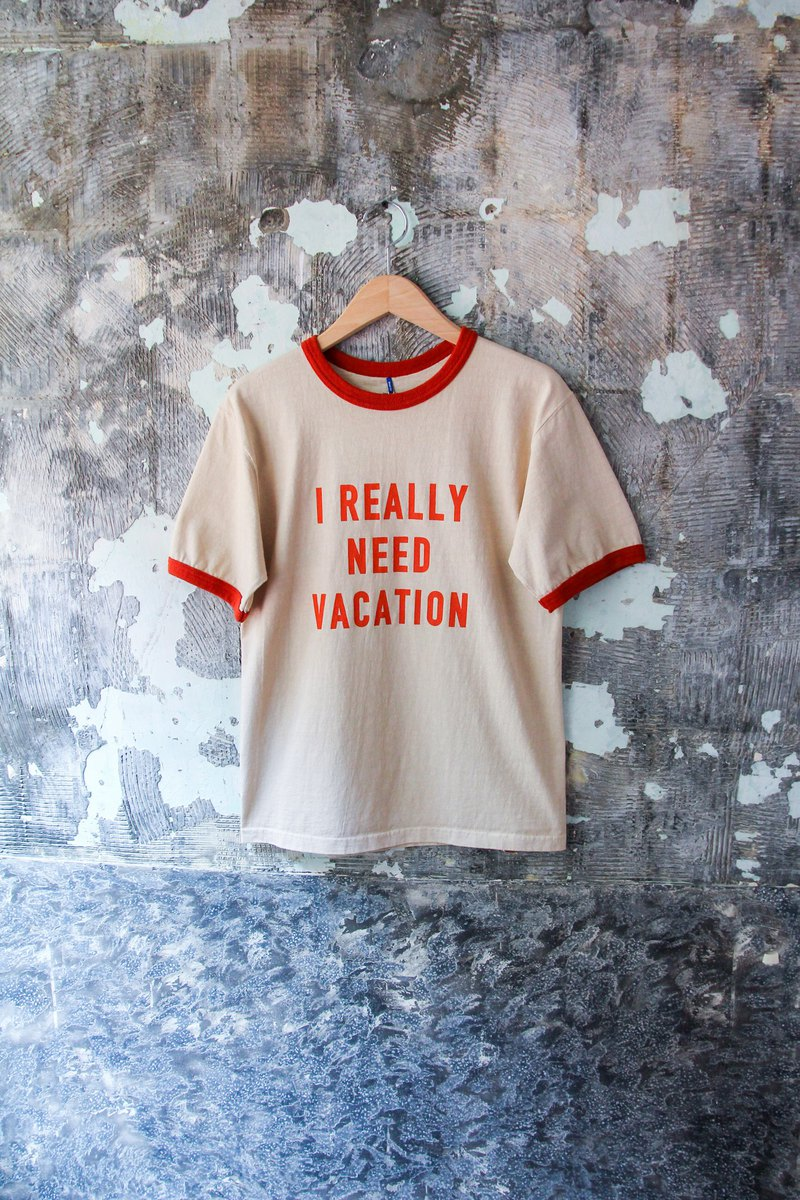 袅袅百货公司- 新品 GOOD ON VACATION RINGER TEE
