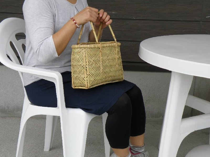 Bamboo basket bag basket braided rope bamboo