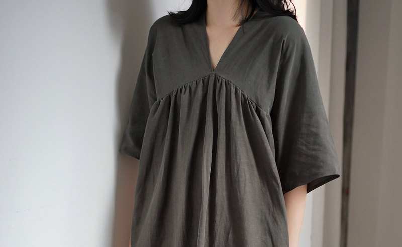 Tencel muse dress - greyish green