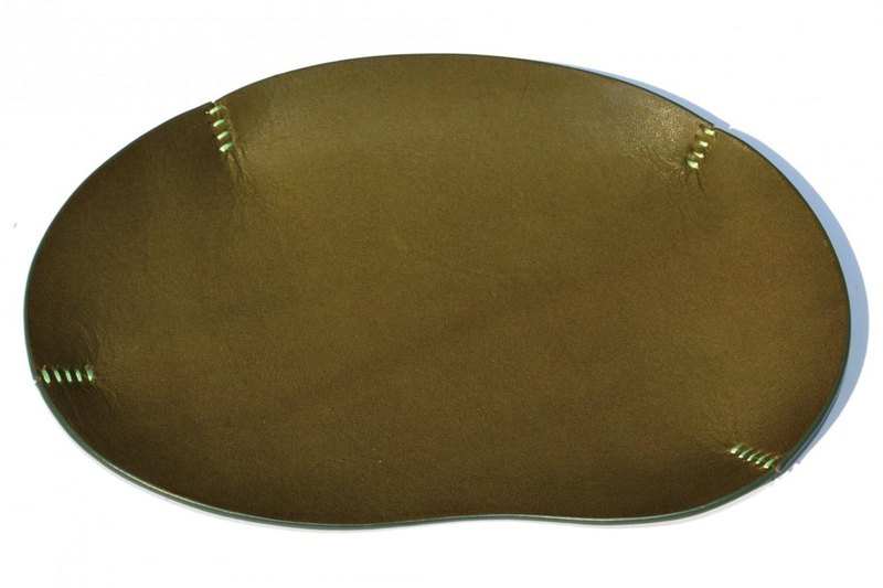 Leather tray Thin type · Green