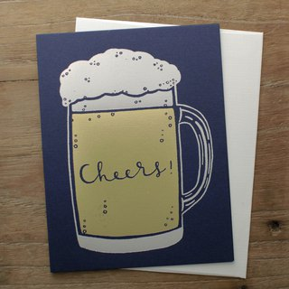 Cheers with Beer Greeting Card