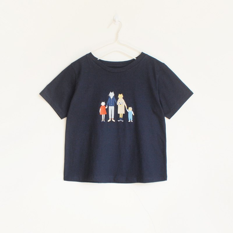 cat family t-shirt : navy