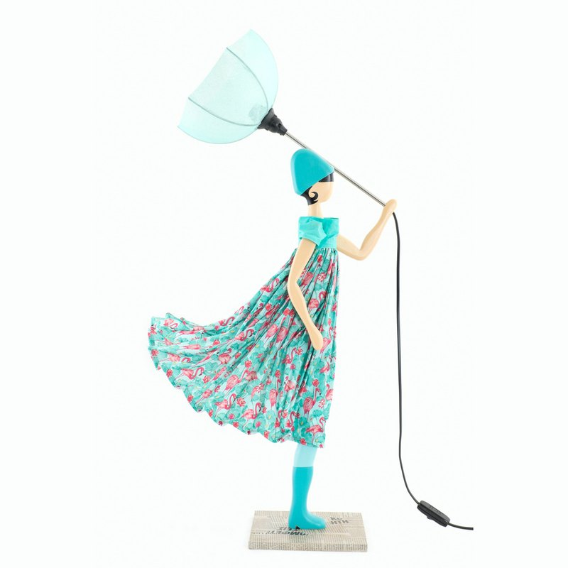 Wind Little Girl Fashionable Lamp Aqueria Order Production Handmade