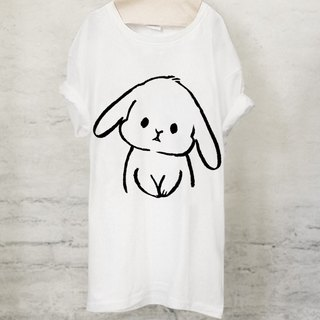 Usagi T-shirt Bunny T-shirt (White / Gray)