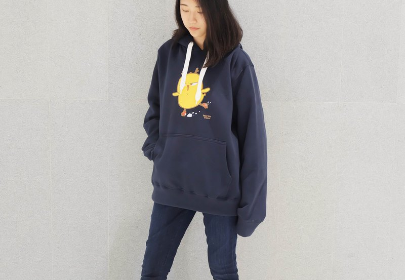 Warbie Ice Skate Hoodie / winter sweater (Navy)