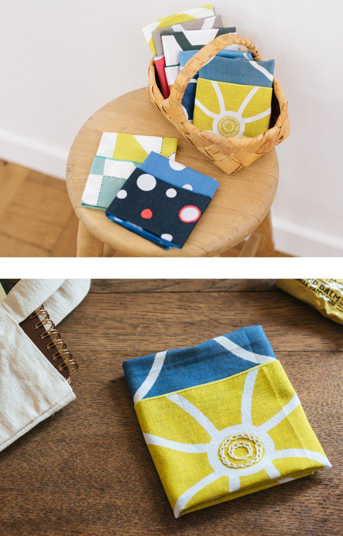 Chikukukumachimachi Hand-embroidered handkerchief Kasane's color-Starry night-