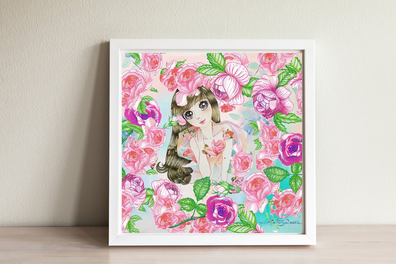"Art print ""Sweet girl"""