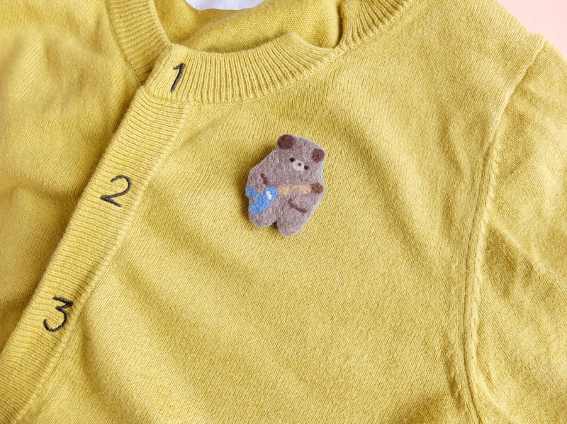 Guitar Bear Brooch