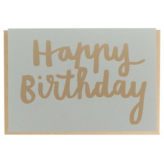 Happy Birthday Card - Gold Foil Printed