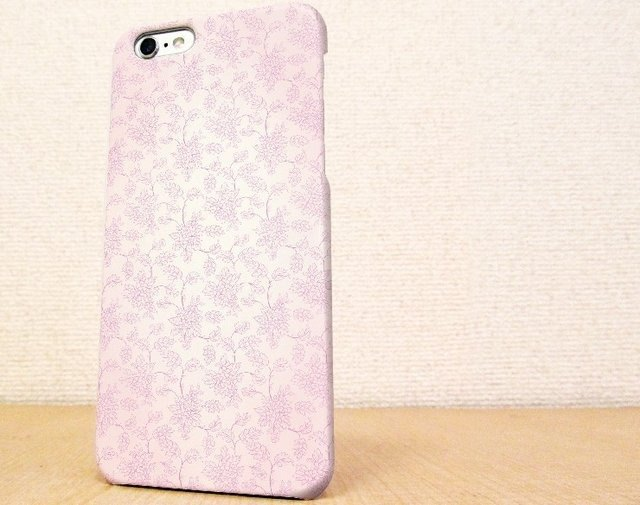 (Free shipping) iPhone case GALAXY case ☆ flower seamless pattern Pink Sumahokesu